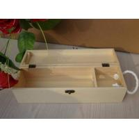 Wholesale Personalised Wooden Wine Gift Box , Nature Pine Wood Wine Box 130 X 120 X 360 mm from china suppliers