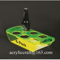 Wholesale PMMA wine holder / plexiglass wine bottle display rack / acrylic beer bottle tray from china suppliers