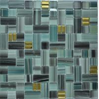 Wholesale Malachite green glass mosaic tile kitchen backsplash from china suppliers