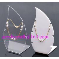 Wholesale High Polished Acrylic Necklace Display Stand / Acrylic Necklace Display Rack from china suppliers