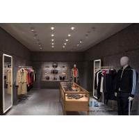 Quality High-end women's clothing store design oak wooden Jewelry Dispaly counters and Hang Wall Cloth Shelves with racks for sale