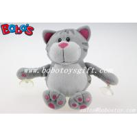 Wholesale Customized Stuffed Grey Cat Animal With Plastic Suction Cups from china suppliers