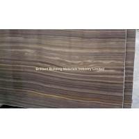 Quality Brown Wooden Veins Marble Semi-Slab(Vein Cut) for sale