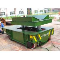 Wholesale 30t large platform electric rail flat handling car for steel motor from china suppliers