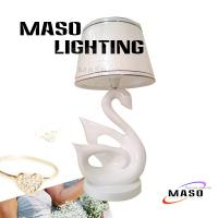 Wholesale Elegant Inovative Swan Table Lamp Resin Material Stand For Bedroom MS-T2004 E14 Base from china suppliers