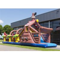Wholesale Digital Printing Inflatable Obstacle Course , Floating Obstacle Course With CE from china suppliers