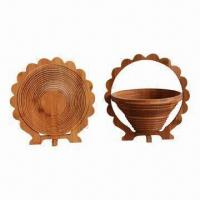 Wholesale Bamboo Fruit Basket, Eco-friendly/Practical/Mothproof/Moisture Proof, Customized Designs Welcomed from china suppliers