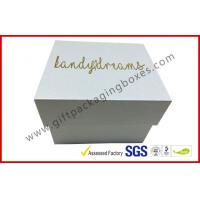 Wholesale Pearl white top and base box golden logo , smart watch box with PU pillow from china suppliers