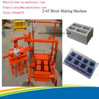 Wholesale Portable Brick Making Machine Block Forming Machine with Moulds Movable 2-45 new type from china suppliers