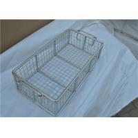 Buy cheap Rugged Stainless Steel Wire Mesh Basket With Moved Handle For Fruit from wholesalers