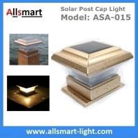 Quality Square Apricot Solar Post Caps Light Outdoor Solar Fence Lamp Stake Timber Pile Lighting Solar Powered Pillar Gate Lamp for sale