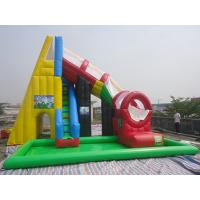 Wholesale Kids / Adults Outdoor Inflatable Swimming Pool Water Slide 0.55 mm PVC Tarpaulin from china suppliers