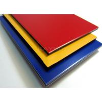 Quality Colored Aluminum Composite Panel , 1220 x 2440mm Exterior Wall Cladding Panels for sale