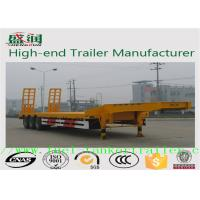 Buy cheap Professional 3 Axle 50 tons heavy duty low bed hydraulic equipment trailer from wholesalers