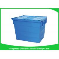 Wholesale Durable Plastic Attached Lid Containers / Heavy Duty Plastic Storage Boxes from china suppliers