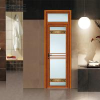China Weather Proof Aluminium Framed Frosted Glass Doors With Stainless Steel Net Screen on sale