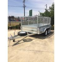 Wholesale 10x6 Fully Hot Dipped Galvanised Tandem Caged Trailer 2000KG from china suppliers