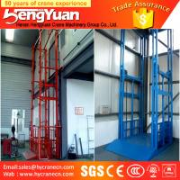 Wholesale 300kg-3000kg floor to upstairs guide rail chain hydraulic goods lifting platform from china suppliers