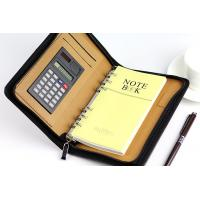 Buy cheap PU zipper portfolio/leather organizer/presentation folder Factory Conference file folder from wholesalers