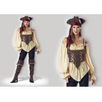 Wholesale Rustic Pirate Lady 1024  Halloween Adult Costumes Brown Yellow Red Mixed Color from china suppliers