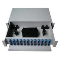 Wholesale 19'' Rack Mounted Fiber Optic Distribution Frame ODF Patch Panel Slidable Splice Tray Units from china suppliers
