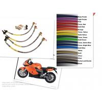 Wholesale 1/8 SIZE Motorcycle Racing Colored TEFLON/PTFE Steel Braided Brake Line Hose Kits from china suppliers