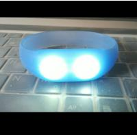 sound and motion activated remote controlled led wristband silicone bracelets
