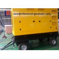 Wholesale Mobile 300kVA Portable Diesel Generator Set with ATS for Construction , Weichai Power from china suppliers