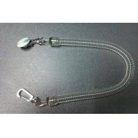 Wholesale Pure clear long spiral coil tool tether chain w/executive and delux  swivel&round sticker from china suppliers