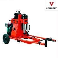 Wholesale Portable 150m Soil Test Geotechnical Drill Rig For SPT Test , 2 Wheels Trailer from china suppliers