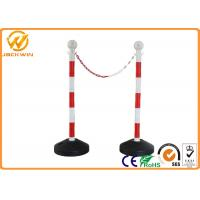 Wholesale Road Safety Reflective PVC Traffic Delineator Post with Plastic Chain 90cm Height from china suppliers