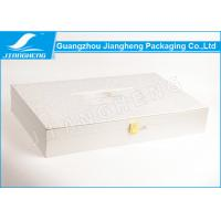 Wholesale Rose Texture Paper Silver Cosmetic Packaging Boxes With Gold Lock BV Certification from china suppliers