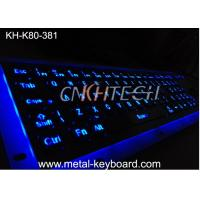 Wholesale Illuminant waterproof SS Industrial Metal Keyboard with Trackball  pointing device from china suppliers