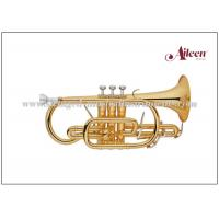 Wholesale Brass lacquered 2pcs reinforced trigger China Cornet with Premium case (CN8712G) from china suppliers