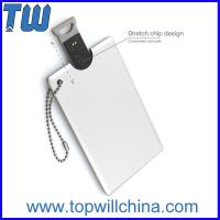 Wholesale Metal Credit Card USB Flash Drive Device High Quality Printing Free Ball Chain from china suppliers