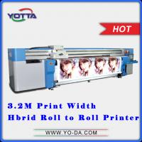 Wholesale UV Hybrid printer roll to roll non-woven fabric printer, all in one hybrid printer for car sticker, fibre cloth, etc from china suppliers