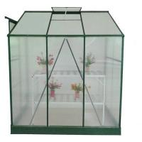 Wholesale 8x6 / 6x4 Ft Polycarbonate Lean to Greenhouse For Ornamental , Aluminum Frame / Zinc Steel from china suppliers