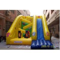 China Yellow Plato Inflatable Animal Obstacle Slide 0.55mm PVC Tarpaulin With Digital Printing on sale