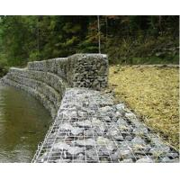 A stepped gabion retaining wall for protecting river bank from erosion