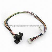 Quality Mini DIN 6 Pin Wiring with Female Socket to 6 Pins Housing Connector Assembly for sale