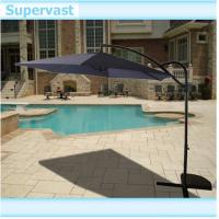Wholesale Rotating 3M Outdoor Offset Patio Umbrella / Sunshade Patio Hanging Umbrella with LED Light from china suppliers