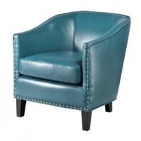 Wholesale Faux Leather Oversized Living Room ChairWith Single Row Nail Head Trim from china suppliers