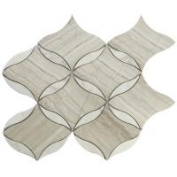 Buy cheap Grey marble mosaic tile waterjet from wholesalers