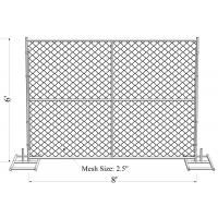 Wholesale 6' Height x 12' Width 11ga 11.5 ga 12ga  12.5ga diameter chain mesh 60mm Portable Chain Link Temporary Security Fencing from china suppliers