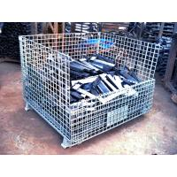 Wholesale Folding Stackable Transit Equipment Steel Pallet Cages With U Shaped from china suppliers