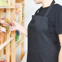 Wholesale Adult Black Cotton Blend Apron with Adjustable Neck Strap Kitchen Aprons from china suppliers