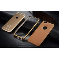 Quality Metal Bumper Leather Cover Combo Mobile Phone Case For Apple iphone 6 6 Plus for sale