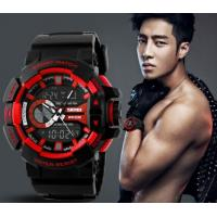 Wholesale New Fashion Men Water Resist 50M Chrono Sport Watch Multifunction Dual Time Alarm PU Strap Watch 1117 from china suppliers
