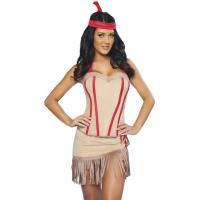 Wholesale Customized Party Adult Costumes Princess Lily Indian Costume in Pink from china suppliers