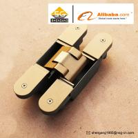 Wholesale Zinc Alloy 3D Adjustable Concealed Hinge / Invisible hinge For Wooden Doors from china suppliers